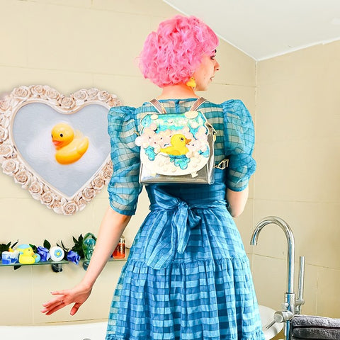 Irregular Choice Bubble Duck Tas Blauw