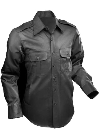 Chenaski Heren Taxi Worker Shirt Zwart