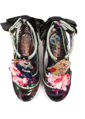 Irregular Choice Blossom Bunny Pumps Zwart