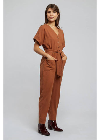 Louche Percy 60's Jumpsuit Roest