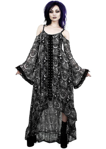 Killstar New Moon Maiden Jurk Zwart