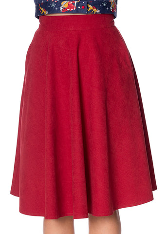 Banned Sophicated Lady 50's Swing Rok Rood
