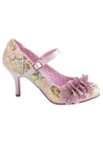 Joe Browns Couture Ginnie Brocade Pumps Paars