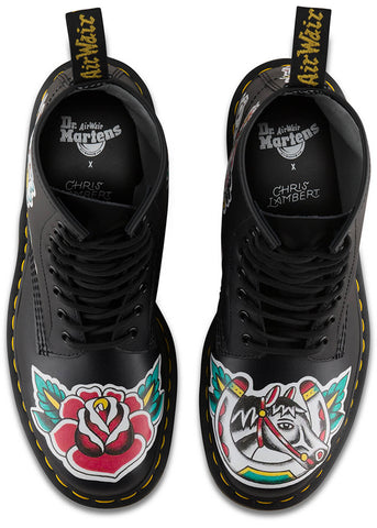 Dr. Martens 1460 Tattoo Chris Lambert Veterlaarzen Zwart