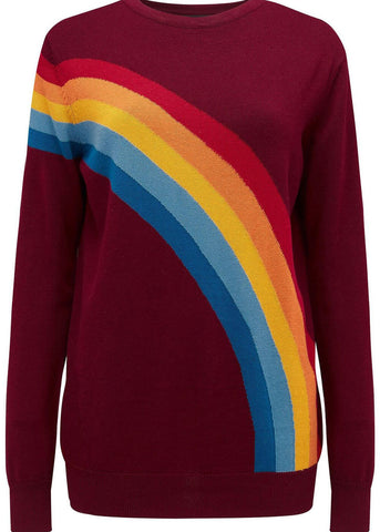 Sugarhill Boutique Rita Vintage Rainbow 70's Trui Multi
