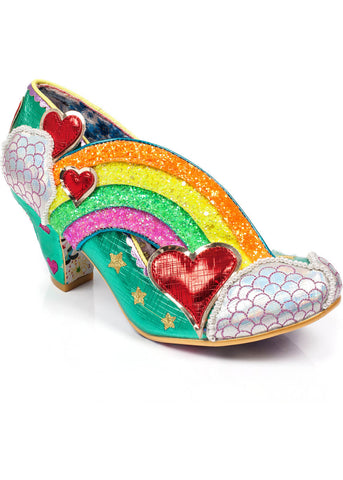 Irregular Choice Summer of Love Rainbow Pumps Groen