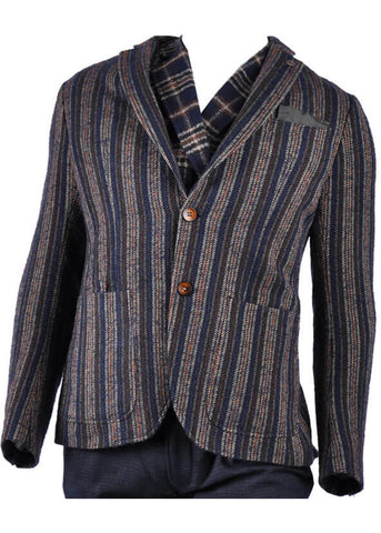Club of Gents Saville Row Casey Stripe Colbert Navy