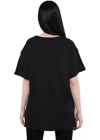 Killstar Judgement Relaxed Top Zwart