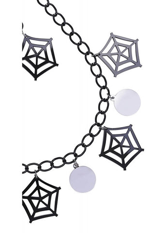 Collectif Spiderweb Set Zwart Zilver