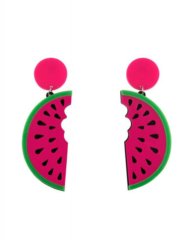 Collectif Elza Watermelon Oorbellen Roze Groen
