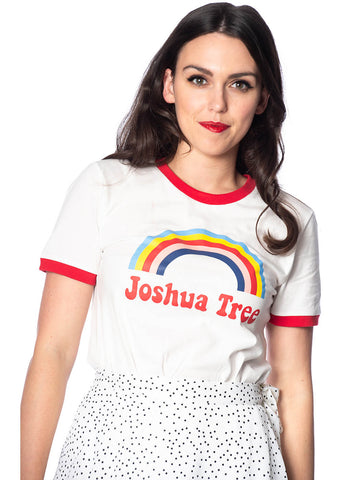 Banned Joshua Tree 70's T-Shirt Creme