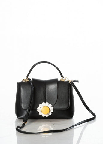 Banned Bellis Flower Tas Zwart