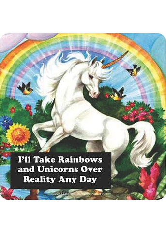 Retro Fun Onderzetter I'll Take Rainbows And Unicorns
