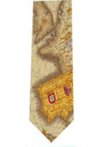 The Tie Studio Map of Europe Stropdas Zijde