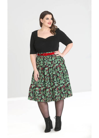 Hell Bunny Holly Berry 50's Swing Rok Zwart
