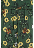 Collectif Kiko Pineapple Slice 70's Palazzo Broek Groen