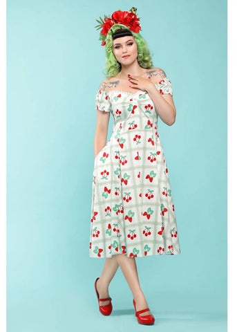 Collectif Dolores Sweetheart Picnic 50's Swing Jurk Multi
