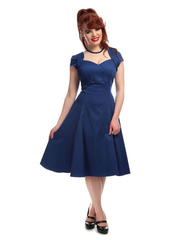 Collectif Regina 50's Swing Jurk Blauw