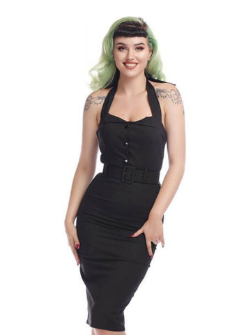 Collectif Wanda 50's Pencil Jurk Zwart