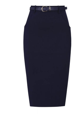 Collectif Dianne 40's Pencil Rok Navy