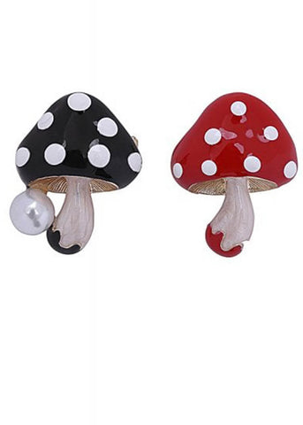 Collectif Mushies Broche Set Rood Zwart