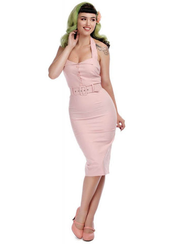 Collectif Wanda 50's Pencil Jurk Roze