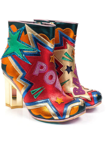 Irregular Choice Bang Pow Laarzen Rood