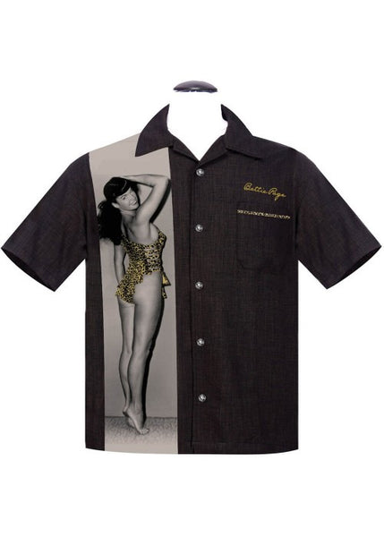 Rock Steady Men Bettie Page Untamed Shirt Zwart