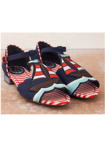 Miss L Fire Regatta Sailboat 60's Schoenen Navy