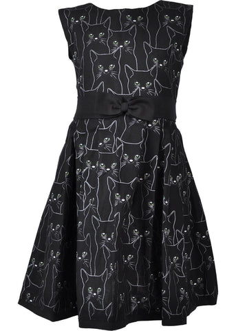 Victory Parade Kids Black Cat 50's Swing Jurk