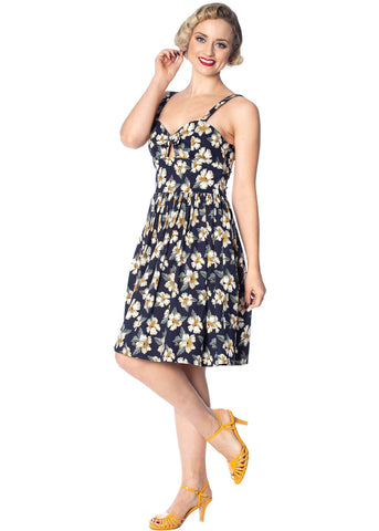 Banned Sunny Babe 50's Swing Jurk Navy