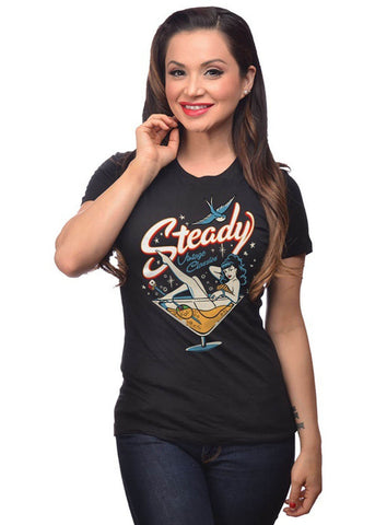 Steady Clothing Martini Girls T-Shirt Zwart