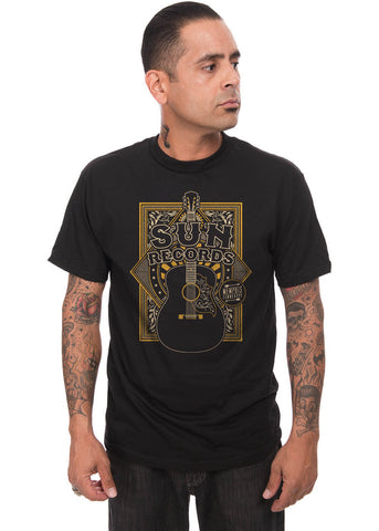 Rock Steady Heren Sun Records Sun Crescent T-Shirt Zwart