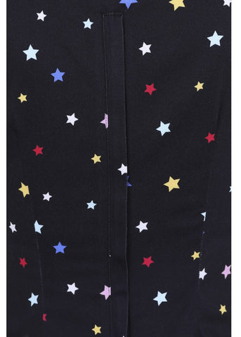 Collectif Mimi Rainbow Stars 50's Top Zwart