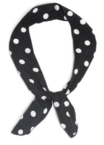 Collectif Polkadot Wired 50's Bandana Zwart