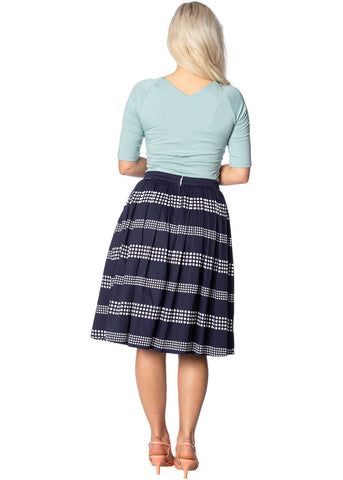 Banned Sail Away 60's Swing Rok Navy