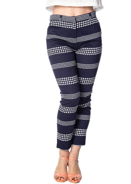 Banned Sail Away Dots 60's Broek Navy