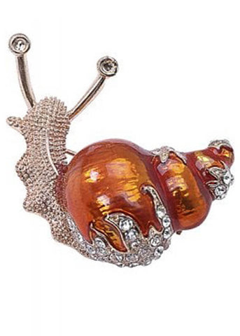 Collectif Snail Friend Broche Donker Oranje