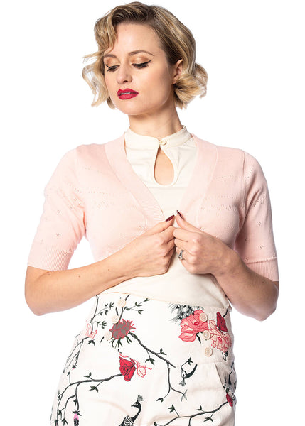 Banned You Are My Vintage Sunshine 50's Bolero Roze