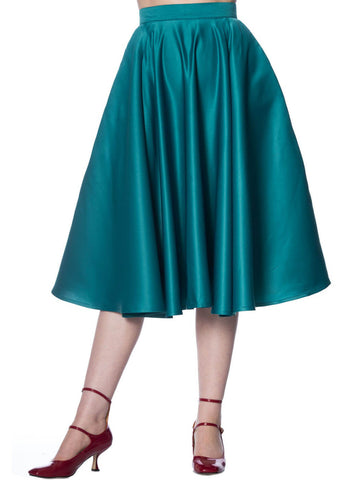 Banned Miracles 50's Swing Rok Teal Groen