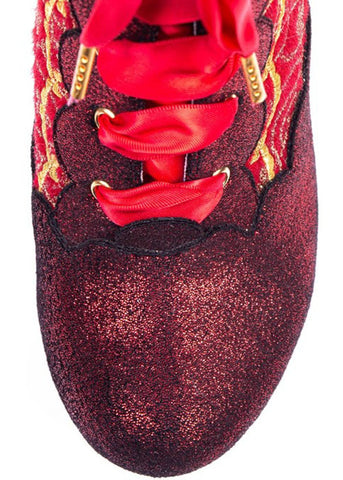 Irregular Choice Chinese Whispers Laarsjes Rood