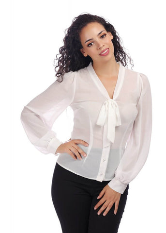 Collectif Luiza 40's Blouse Ivoor