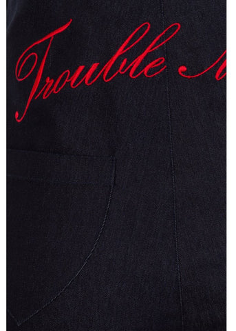 Collectif Tara Trouble Maker Jeans Navy