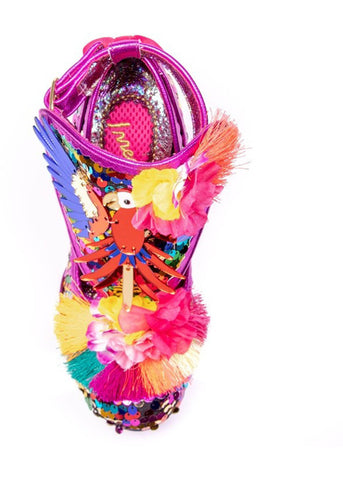 Irregular Choice Bellissima Parrot Pumps Paars Multi