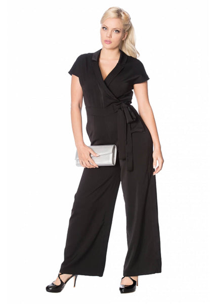 Banned Occasion 60's Jumpsuit Zwart