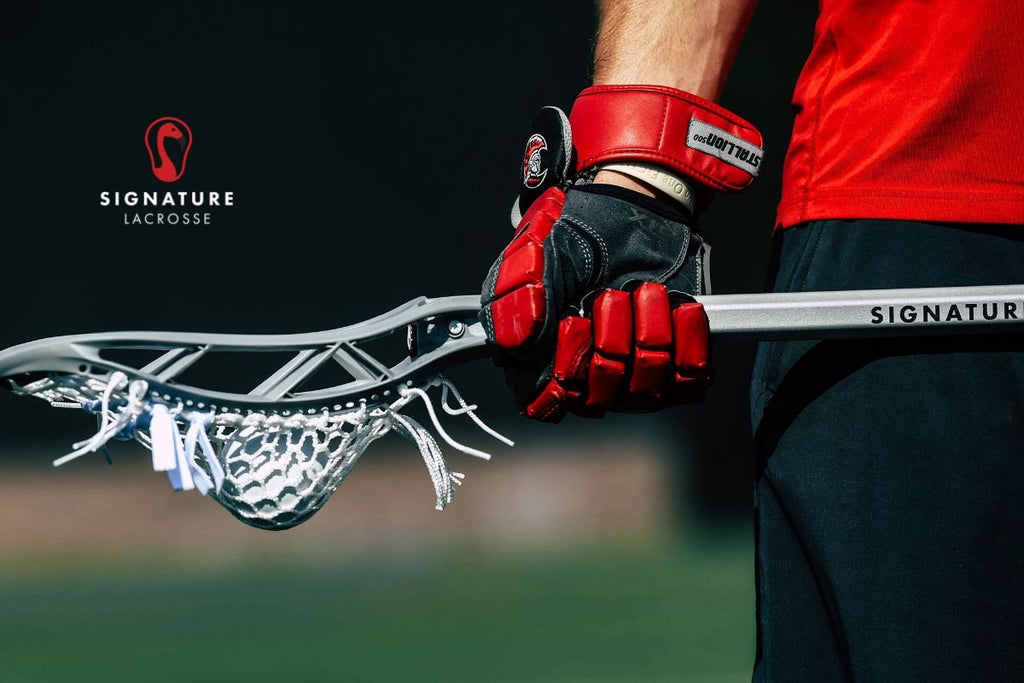 the player lacrosse stick