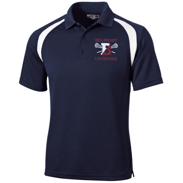 Belmont Lacrosse Men's Performance Polo Signature Lacrosse