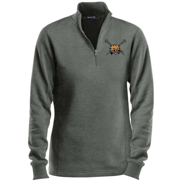 Buchholz Boys Lacrosse Ladies 1/4 Zip Sweatshirt Signature Lacrosse