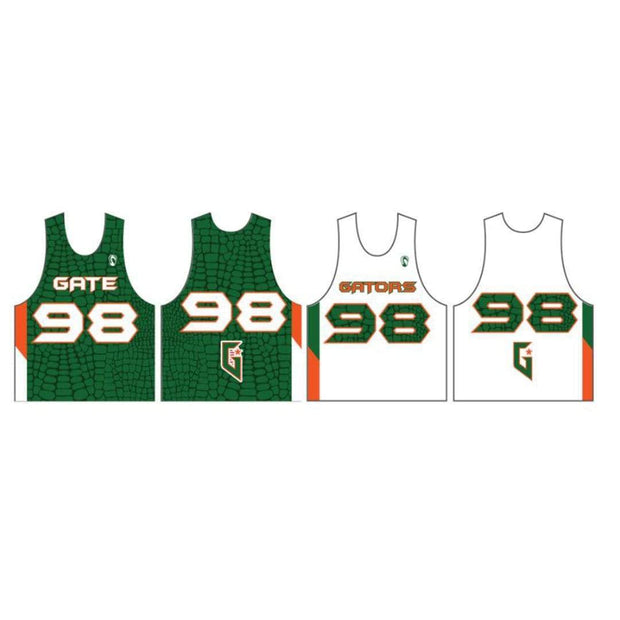 Gateway Gators Lacrosse Men's Performance Pinnie (Sold Seperately):3rd-4th Grade Combined Green Team Signature Lacrosse