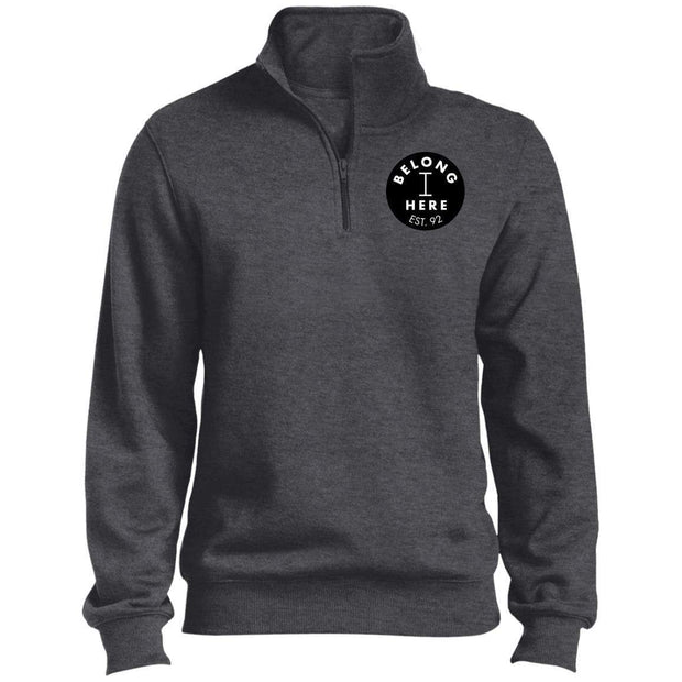 I Belong Here Men's 1/4 Zip Sweatshirt Signature Lacrosse